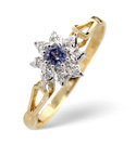9K Yellow Gold 0.02Ct Diamond, Tanzanite Ring From Catalina Diamonds Y2099