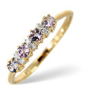 9K Yellow Gold 0.03Ct Diamond, Tanzanite Ring From Catalina Diamonds C3170