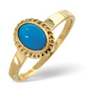 9K Yellow Gold Turqouise Ring From Catalina Diamonds Y1556