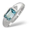 9K White Gold Sky Blue topaz Ring From Catalina Diamonds Y1241
