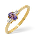 9K Yellow Gold 0.01Ct Diamond, Tanzanite Ring From Catalina Diamonds C2773