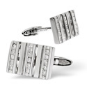 9K White Gold 0.42Ct Diamond, Onyx Gifts/Cufflinks From Catalina Diamonds E2496
