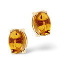 9K Yellow Gold Amber Earrings From Catalina Diamonds Z1169