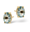 9K Yellow Gold Blue Topaz Earrings From Catalina Diamonds Z1077