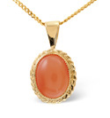 9K Yellow Gold Coral Necklace From Catalina Diamonds Z1139