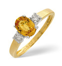 18K Yellow Gold 0.2Ct Diamond, Yellow Sapphire Ring From Catalina Diamonds L1670
