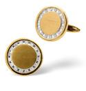 9K Yellow Gold 0.34Ct Diamond Gifts/Cufflinks From Catalina Diamonds E2498