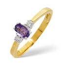 18K Yellow Gold 0.2Ct Diamond, Tanzanite Ring From Catalina Diamonds L1666
