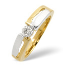 Two Tone Gold 0.2Ct Diamond Ring From Catalina Diamonds C1566