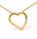 9K Yellow Gold 0.03Ct Diamond Necklace From Catalina Diamonds E1655