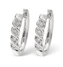 9K White Gold 0.07Ct Diamond Earrings From Catalina Diamonds F1219
