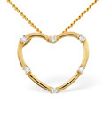9K Yellow Gold 0.05Ct Diamond Necklace From Catalina Diamonds E2362