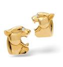 9K Yellow Gold 0.02Ct Diamond Gifts/Cufflinks From Catalina Diamonds E1469