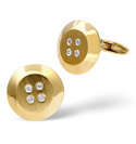 9K Yellow Gold 0.08Ct Diamond Gifts/Cufflinks From Catalina Diamonds E1644