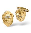 9K Yellow Gold 0.03Ct Diamond Gifts/Cufflinks From Catalina Diamonds E1384