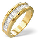 9K Yellow Gold 1Ct Diamond Ring From Catalina Diamonds D1070
