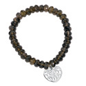 Silver Smoky Quartz Bracelet From Elements Silver B2936Y