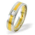 0.07CT H/SI Diamond Round Wedding Band Ring Palladium from Catalina Diamonds WB13-8VSP3
