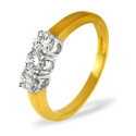 0.75CT PK Diamond Triology Ring 18K Yellow Gold from Catalina Diamonds DR01-75PKY