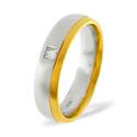 0.08CT G/VS Diamond Round Wedding Band Ring Palladium from Catalina Diamonds WB13-8VSP