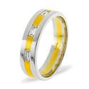 0.14CT G/VS Diamond Round Wedding Band Ring Palladium from Catalina Diamonds WB13-14VSP