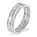 1CT H/SI Diamond 2 Rows Princess Full Eternity Ring 18K White Gold from Catalina Diamonds FE21-100HSW