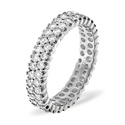 1CT G/VS Diamond Rounds Pave Setting Full Eternity Ring 18K White Gold from Catalina Diamonds FE18-100VSW