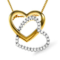 0.28CT Diamond Pendant 18K Two Tone Gold from Catalina Diamonds P2384