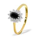 0.18CT Diamond, Sapphire Ring 9K Yellow Gold from Catalina Diamonds Y1020