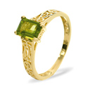 Peridot Ring 9K Yellow Gold from Catalina Diamonds Y1519