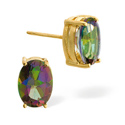 Mystic Topaz Earrings 9K Yellow Gold from Catalina Diamonds Z1434