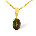 Mystic Topaz Pendant 9K Yellow Gold from Catalina Diamonds Z1432