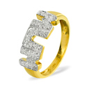 0.1CT Diamond Ring 9K Yellow Gold from Catalina Diamonds C3488