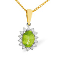 0.21CT Diamond, Peridot Pendant 9K Yellow Gold from Catalina Diamonds E2620