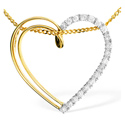 0.21CT Diamond Pendant 9K Yellow Gold from Catalina Diamonds E2676