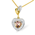 0.05CT Diamond, Amethyst Pendant 9K Yellow Gold from Catalina Diamonds E2684