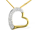 0.19CT Diamond Pendant 9K Yellow Gold from Catalina Diamonds E2677