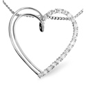 0.21CT Diamond Pendant 9K White Gold from Catalina Diamonds E2668