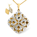 0.25CT Diamond Pendant 9K Yellow Gold from Catalina Diamonds E2687