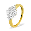 0.5CT Diamond Ring 9K Yellow Gold from Catalina Diamonds C3495