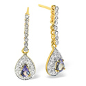 0.28CT Diamond, Tanzanite Earrings 9K Yellow Gold from Catalina Diamonds F2231