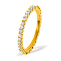 1CT H/SI Diamond Rounds Claw Set Full Eternity Ring 18K Yellow Gold from Catalina Diamonds FE07-100HSY
