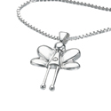 D For Diamond Silver Fairy Pendant For Girls P644