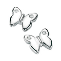 D For Diamond Silver Butterflie Earrings For Girls E2866
