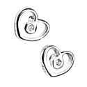 D For Diamond Silver Heart Earrings For Girls E3506