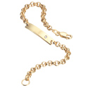 D For Diamond 9Ct Yellow Gold Bracelet For Girls Gb135