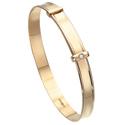 D For Diamond 9Ct Yellow Gold Adjustable Bangle For Boys Gb350