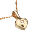 D For Diamond 9Ct Yellow Gold Heart Pendant For Boys Gp077