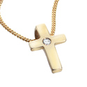D For Diamond 9Ct Yellow Gold Cross Pendant For Boys Gp463