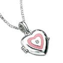 D For Diamond Silver Heart Pendant For Girls P2157